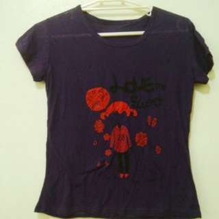 Small Dark Violet Lounge Tee