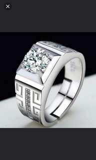 珠寶首飾系列 (活口可調,男合金鍍銀戒指) (ti-stainless steel ring)