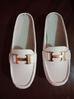 Re-priced White Loafers Slip On