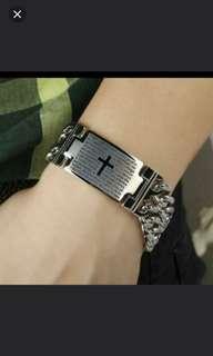 珠寶首飾系列 (有款,男鈦鋼手鍊) (包Buyup自取站取貨) (ti-stainless steel bracelet)