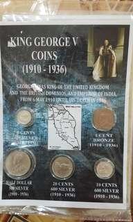马来亚古币一套