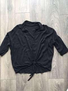 Brandi Melville Oversized Tie Front Blouse
