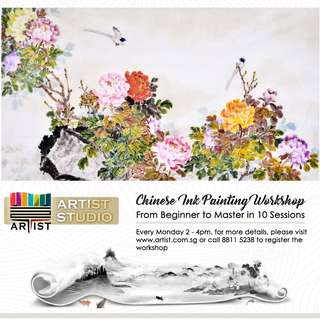 Affordable Chinese Ink Painting Workshop, From Beginner to Master in 10 Sessions
