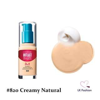 💕 Instock 💕 Covergirl Outlast Stay Fabulous 3-IN-1 Foundation 💋 #820 Creamy Natural 💋
