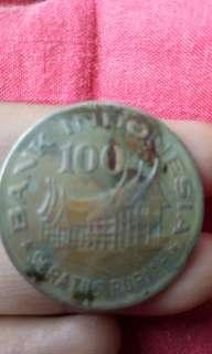 Uang logam indonesia 100 rupiah
