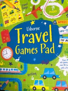usborne travel games pad
