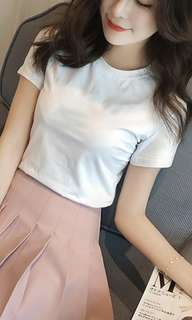 Basic White and Pink T-shirt