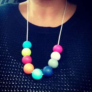 Teething beads - necklace
