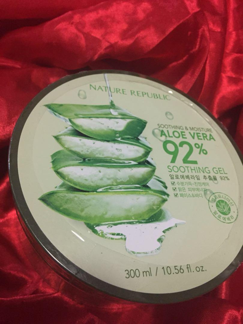 100original Nature Republic Aloe Vera Gel Health Beauty Skin Bioaqua Shooting Original Bath Body On Carousell