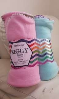 Selimut inForma Ziggy Blanket Set of 2 Baru