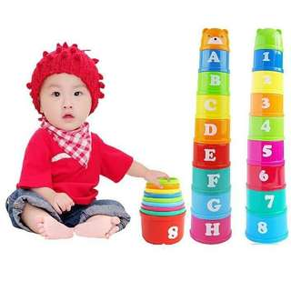 Baby toy folding cups