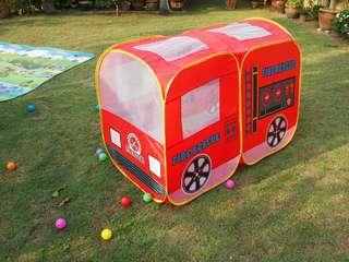 Kids firetruck play tent