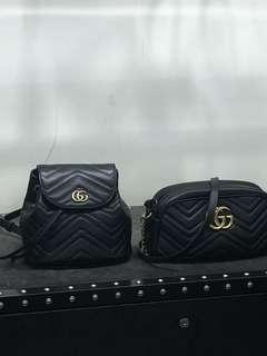 全新歐洲代訂 Gucci marmont GG mini backpack / 22cm 相機包
