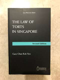 The law of Torts in Singapore: Gary Chan