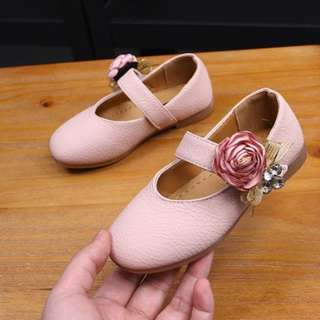 18202 Girly Flowery Kids Shoes