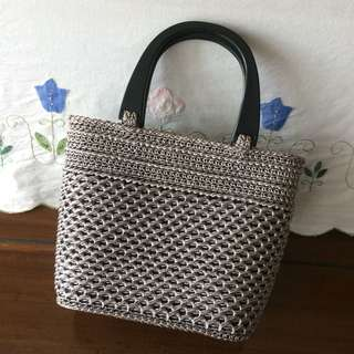 Vintage knitted bag