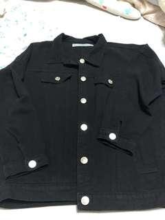 🚚 黑襯衫夾克-牛仔材質
