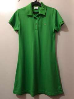 Green Lacoste polo dress