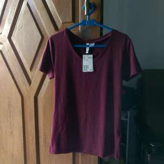 H&M Basic Women Shirt Maroon