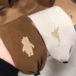 維尼髮箍 咖啡色 日本帶回 特價款