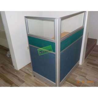 OFFICE CUBICLES FABRIC WITH GLASS PARTITIONS--KHOMI