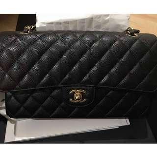 Brand New Chanel Medium Classic Flap Black Caviar with GHW