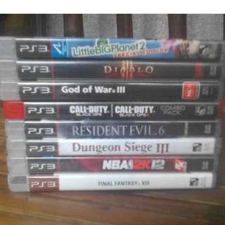 8pcs PS3 Games Bundle Sale Only!