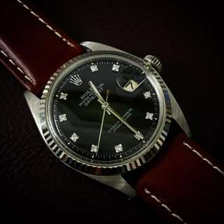 Rolex Datejust 36mm Black Diamond Dial