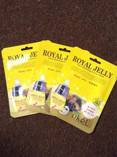 ROYAL JELLY Ultra Hydrating Essence Mask by EKEL and NATURE REPUBLIC Real Nature Mask Sheet (GREEN TEA)