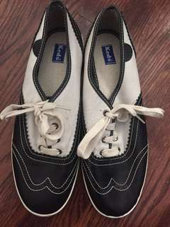 Black and white Keds- women's size 8.5