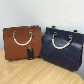 ZARA TOTE BAG WITH ROPE HANDLE P2595 in store
