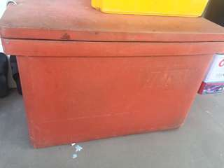 Fish stall , plastic container