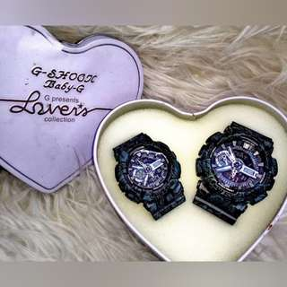 Gshock Floral Dual Time Couple Set