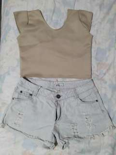 BUNDLE- Crop Top & Shorts