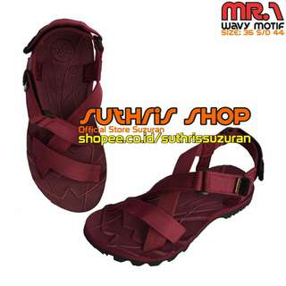 Sandal Gunung Suzuran Cross Mr1 Full Maroon