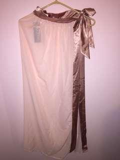 BNWT Sheer Wrap Skirt