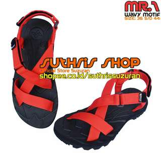Sandal Gunung Suzuran Cross Mr1 Black w Red