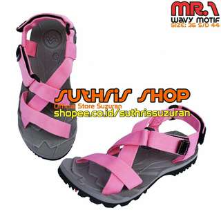 Sandal Gunung Suzuran  Cross Mr1 Grey w Pink