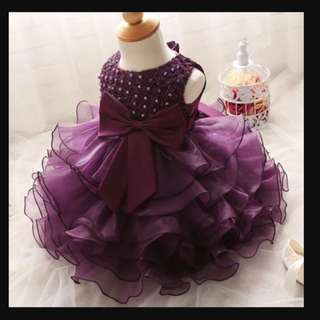 Baby girl layered tulle dress/gown