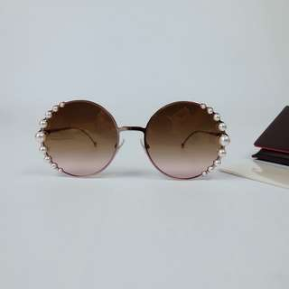 2018珍珠太陽眼鏡Fendi rosegold Sunglasses