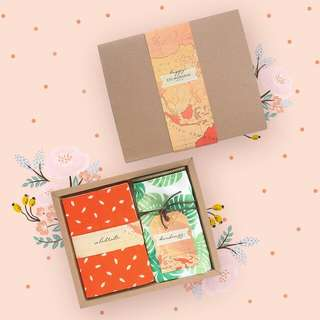 Batik Notes and Canvas Pouch Gift Set Custom
