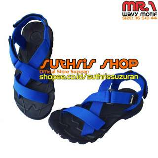 Sandal Gunung Suzuran Cross Mr1 Black w Blue