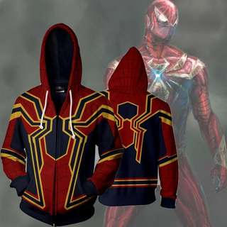 [PO] SpiderMan / Iron Spider ( Jacket / Hoodie ) (Spider Man ) ( Infinity Wars ) ( Avengers ) ( Cosplay )