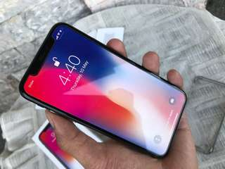 Iphone X 64gb FU Complete 2months old