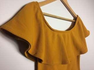 Mustard off shoulder