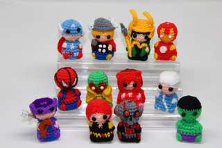 Avengers amigurumi, crochet, spiderman, vision, scarlet witch, quicksilver, antman