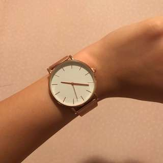 女裝 文青 手錶 玫瑰金