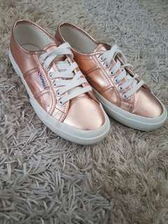 Superga Rose Gold Sneakers Size 39