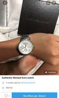 REDUCED MICHAEL KORS WATCH