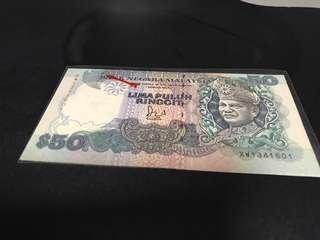 MR$50 with cut error